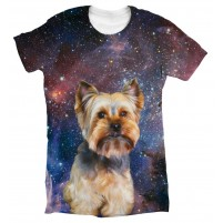 Galaxy Background womens T Shirt