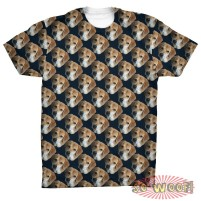Protrait patterned mens T Shirt