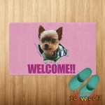 Cats Dogs Pets Pop Out Breakthrough Personalized Doormat Carpet with Photos Portrait