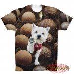 Pets Dogs Cats Chocolates Portrait Customized Crew Neck Short Sleeves Mens T Shirt