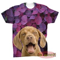 Purple Leaves Background mens T Shirt