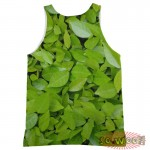 Pets Dogs Cats Green Leaves Portrait Customized Crew Neck Sleeveless Tank Top Shirt