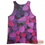 Pets Dogs Cats Purple Leaves Portrait Customized Crew Neck Sleeveless Tank Top Shirt