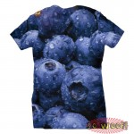 Pets Dogs Cats Blueberries Portrait Customized Crew Neck Short Sleeves Kids T Shirt