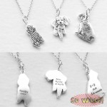 Pet Dogs Cats Photos Portrait Engraved Silver Pendant with Necklace