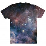 Pets Dogs Cats Blue Galaxy Universe Portrait Customized Crew Neck Short Sleeves Kids T Shirt