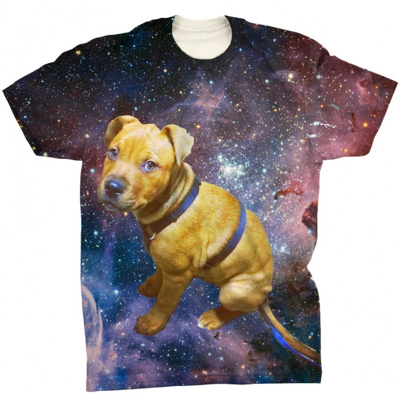 9eb6d4b5 Pets Dogs Cats Blue Galaxy Universe Portrait Customized Crew Neck Short  Sleeves Mens T Shirt
