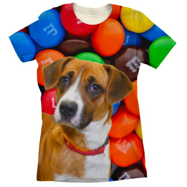 Pets Dogs Cats Smarties Portrait Customized Crew Neck Short Sleeves Womens T Shirt