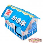 Blue Japanese Style Ice Cream Shop Coffee House Beds Crate With Cushion