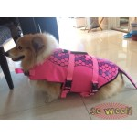 Pets Dogs Cats Swim Suit Life Jacket Pink Mermaid Style