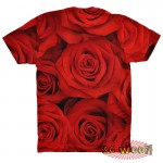 Pets Dogs Cats Red Roses Portrait Customized Crew Neck Short Sleeves Kids T Shirt