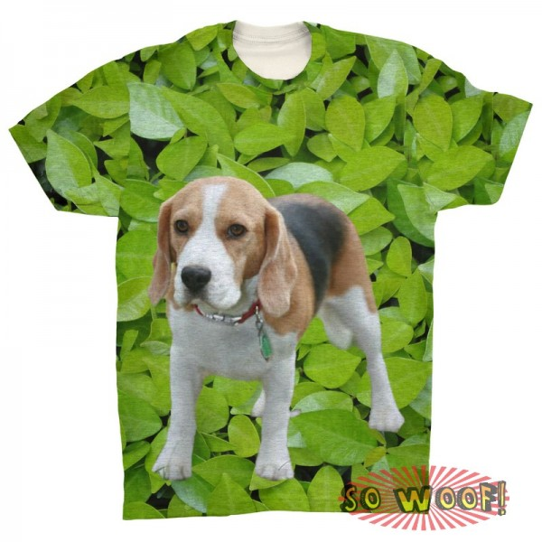Pets Dogs Cats Green Leaves Portrait Customized Crew Neck Short Sleeves Mens T Shirt