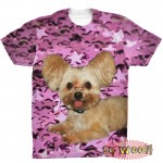 Pets Dogs Cats Stars Portrait Customized Crew Neck Short Sleeves Mens T Shirt