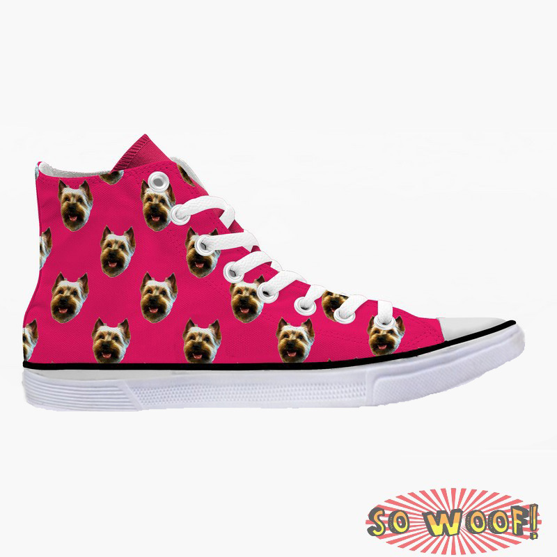 2c52deb82382 Customized Dog Cat Pet Personalized Portrait Pattern High Top Sneakers Shoes  for Womens