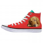 Customized Dog Cat Pet Personalized Portrait High Top Sneakers Shoes for Womens