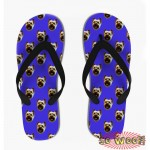 Customized Dog Cat Pet Personalized Portrait Pattern Flip Flops Sandals for Mens
