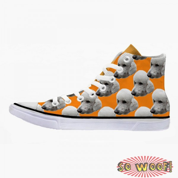 Customized Dog Cat Pet Personalized Portrait Pattern High Top Sneakers Shoes for Mens