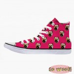 Customized Dog Cat Pet Personalized Portrait Pattern High Top Sneakers Shoes for Womens