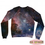 Pets Dogs Cats Blue Galaxy Universe Portrait Customized Long Sleeves Unisex Fleece Sweatshirt