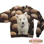 Pets Dogs Cats Chocolate Praline Portrait Customized Long Sleeves Unisex Fleece Sweatshirt