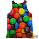 Pets Dogs Cats Smarties Portrait Customized Crew Neck Sleeveless Tank Top Shirt